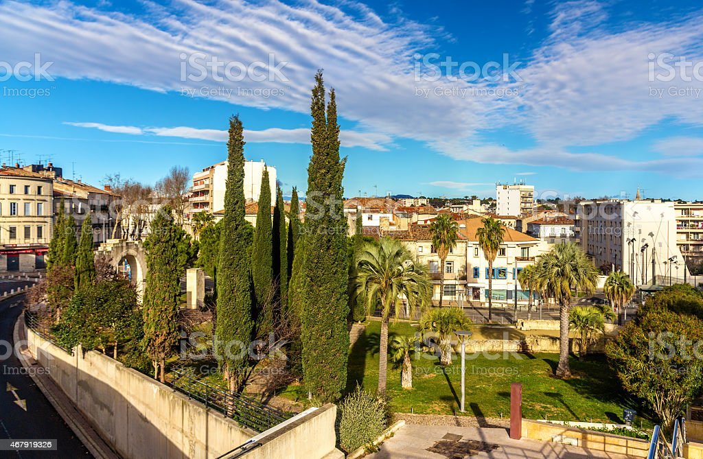 Jardin des Potiers in Montpellier - France, Languedoc-Rousillon stock photo