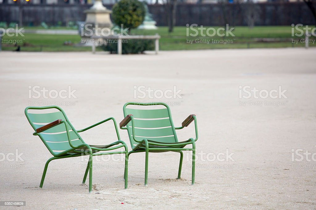 Jardin Des Tuileries Garden Green Chairs Paris France Stock Photo Download Image Now Istock