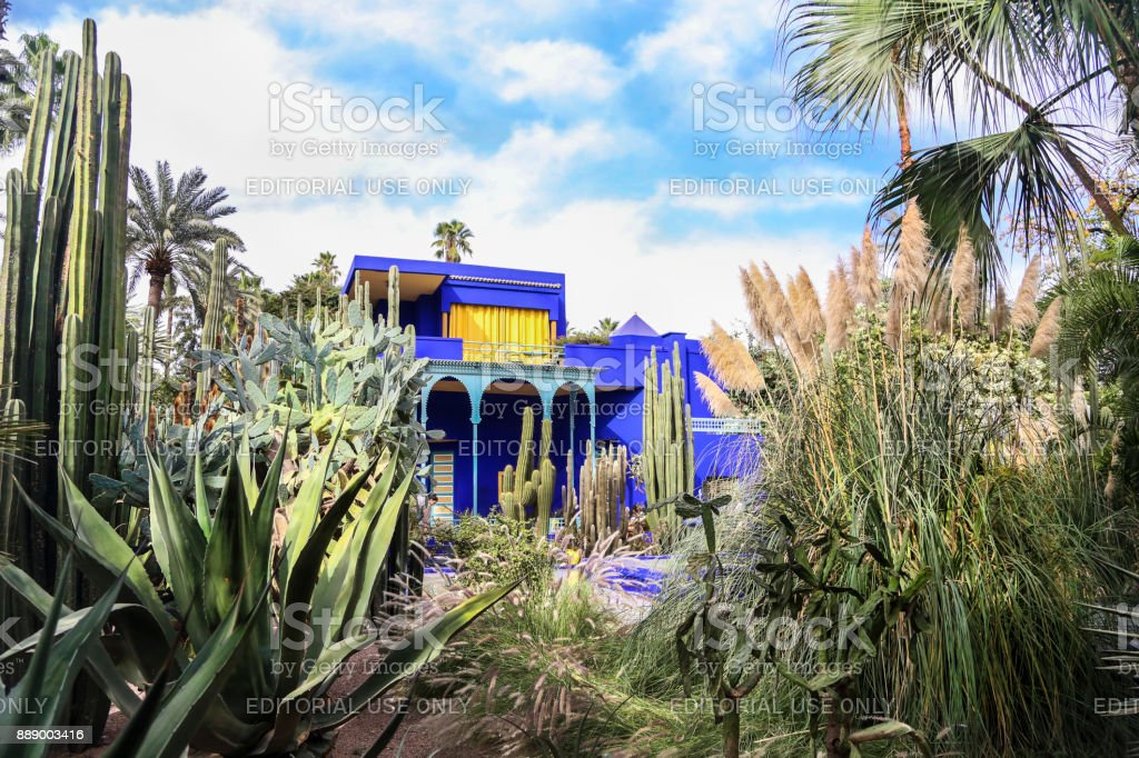 Jardin Majorelle in Marrakech stock photo