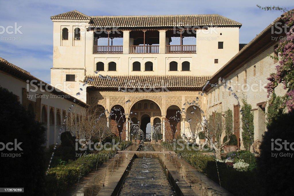 Jardines del Generalife (Alhambra) royalty-free stock photo