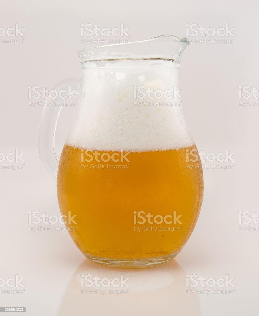 Jarra de cerveza rubia stock photo