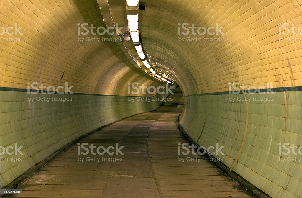 Jarrow to Howdon pedestrian tunnel royalty-free stock photo