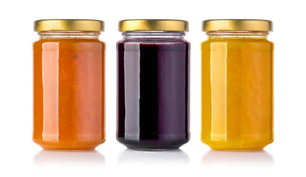 jars of jam - jam jar imagens e fotografias de stock