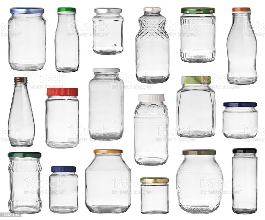 jars set stock photo