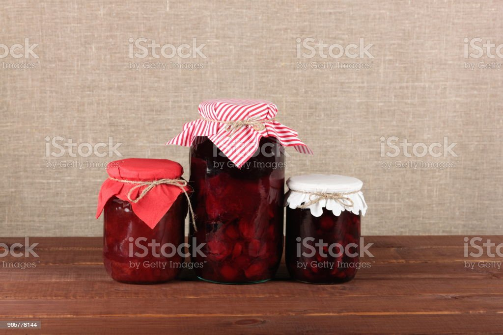 jars with canned fruits - Royalty-free Backgrounds Stock Photo
