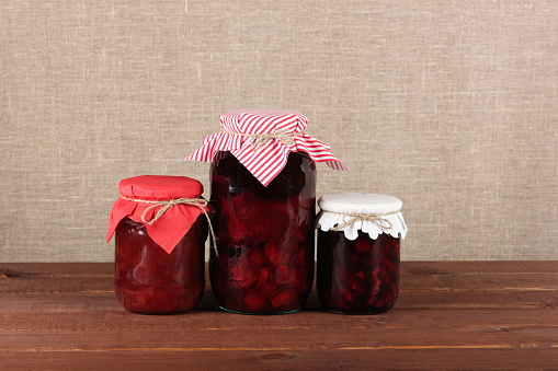 Jars With Canned Fruits Stock Photo - Download Image Now