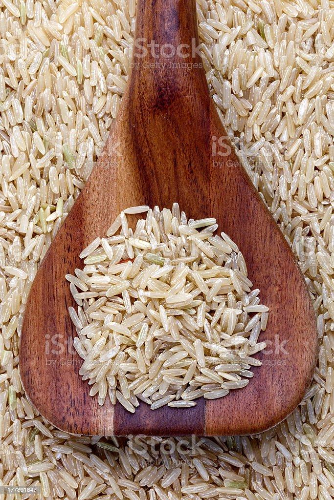 Jasmine Brown Rice royalty-free stock photo