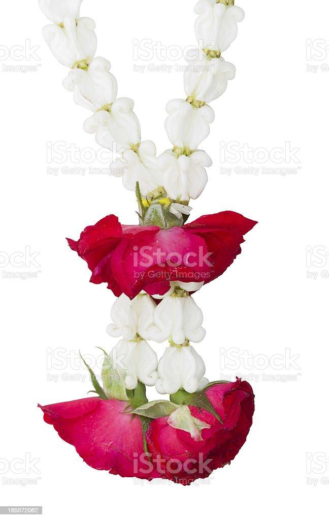 Jasmine garland royalty-free stock photo