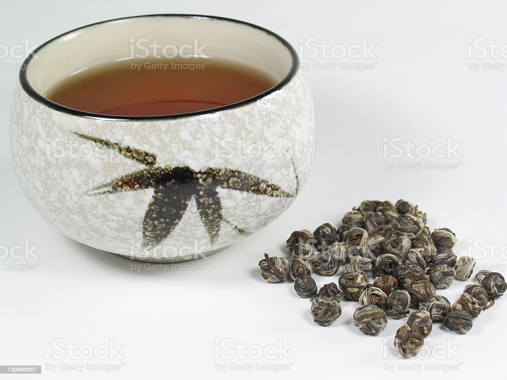 Jasmine Pearl Tea royalty-free stock photo