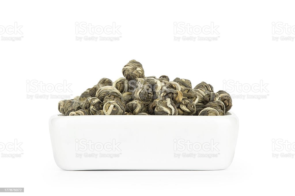 Jasmine Pearl Tea stock photo