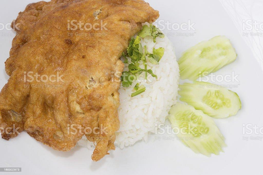 재스민 라이스, 다진 돼지고기 omlette 2 royalty-free 스톡 사진