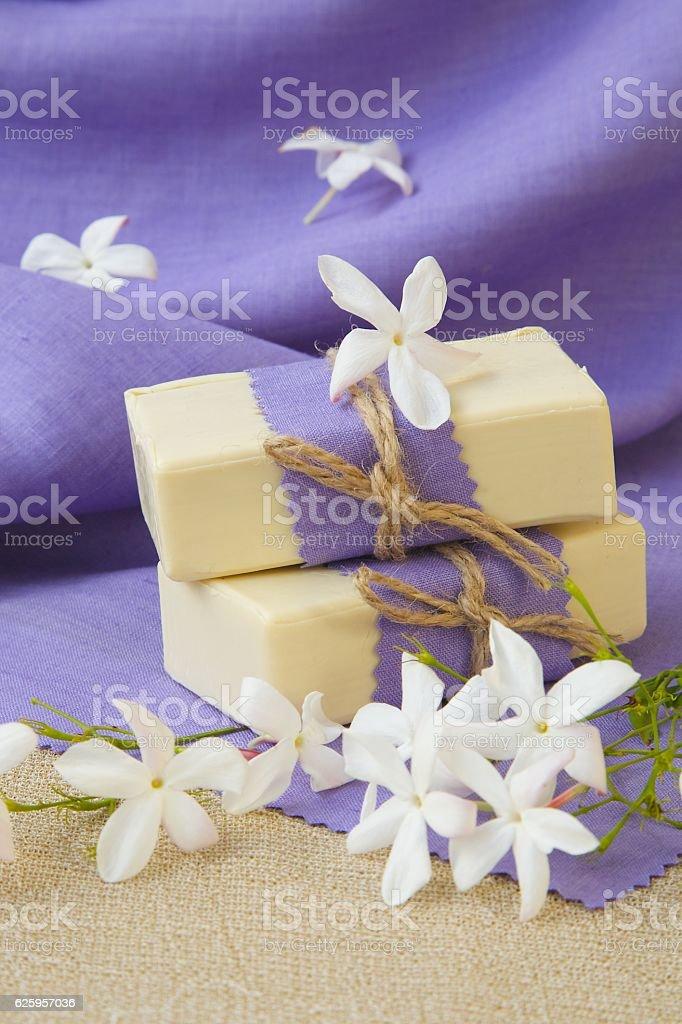 Jasmine soap stock photo