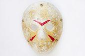 jason mask isolated on white background