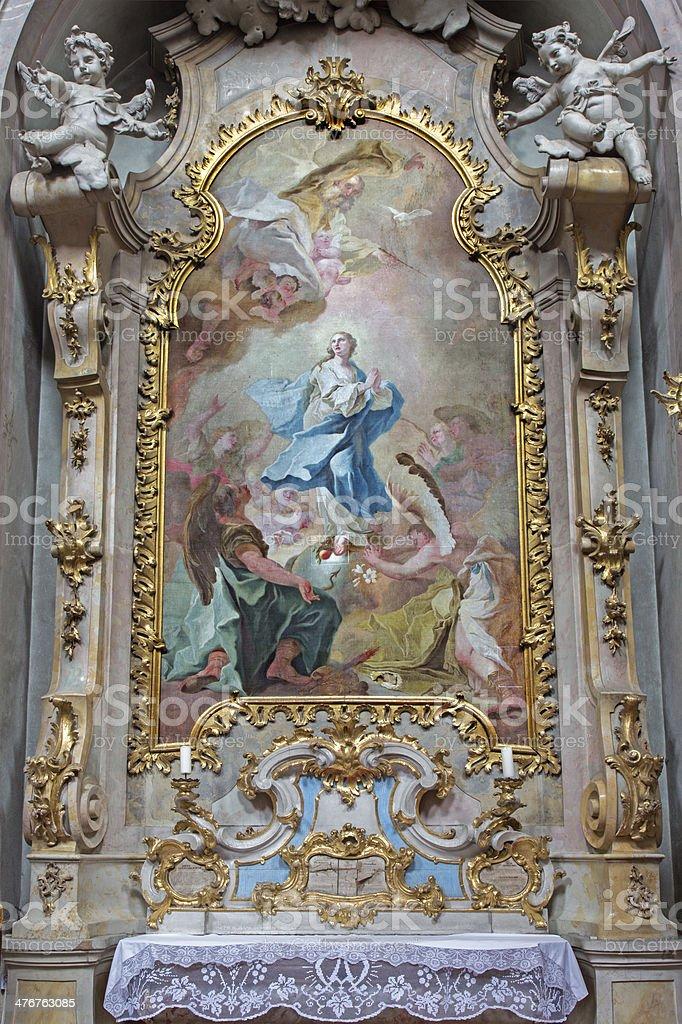 Jasov-Baroque côté autel et de peinture de l'immaculée conception - Photo