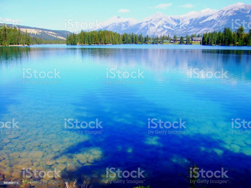Jasper lake stock photo
