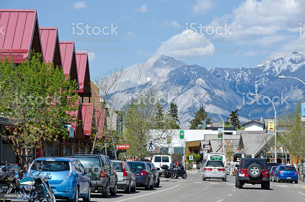 Jasper Main Street stock photo