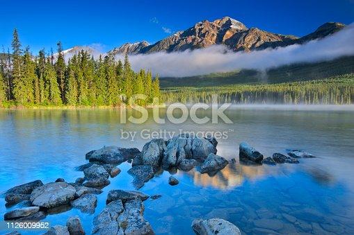 Pyramid Mountain and Pyramid Lake  in Jasper National Park, Canada