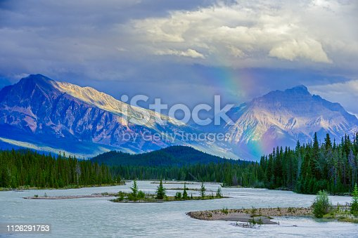 Clearing storm in Jasper National Park
