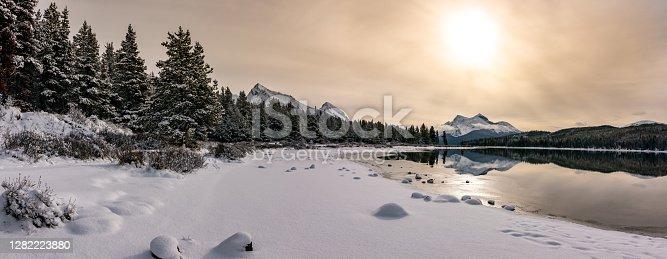 Scenic landscape from Jasper National Park in Canada