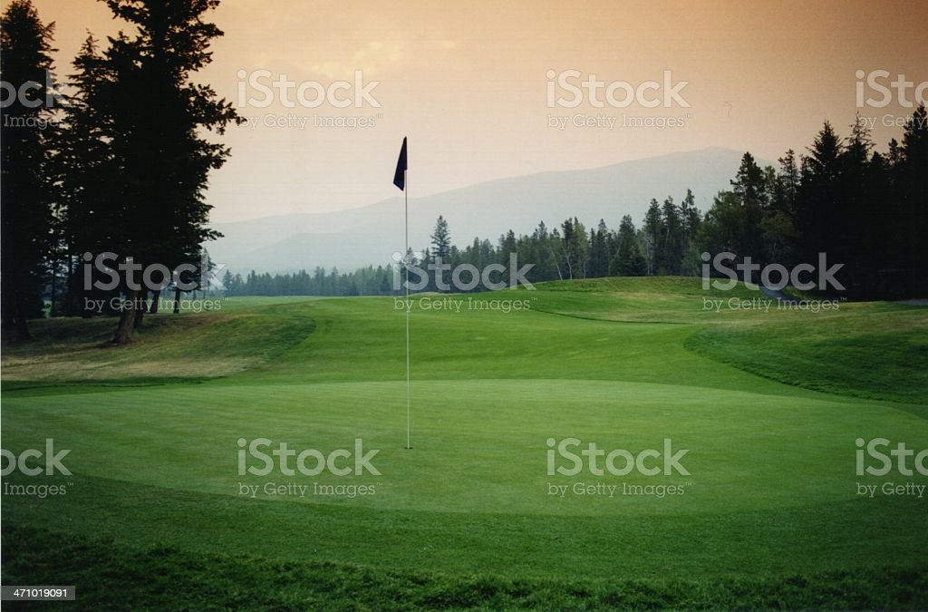 Jasper Park Lodge Golf Course royalty-free stock photo