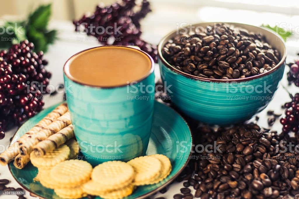 Java and Cookies stock photo