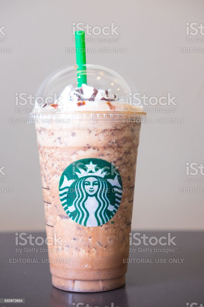 Java chip coffee frappuccino stock photo
