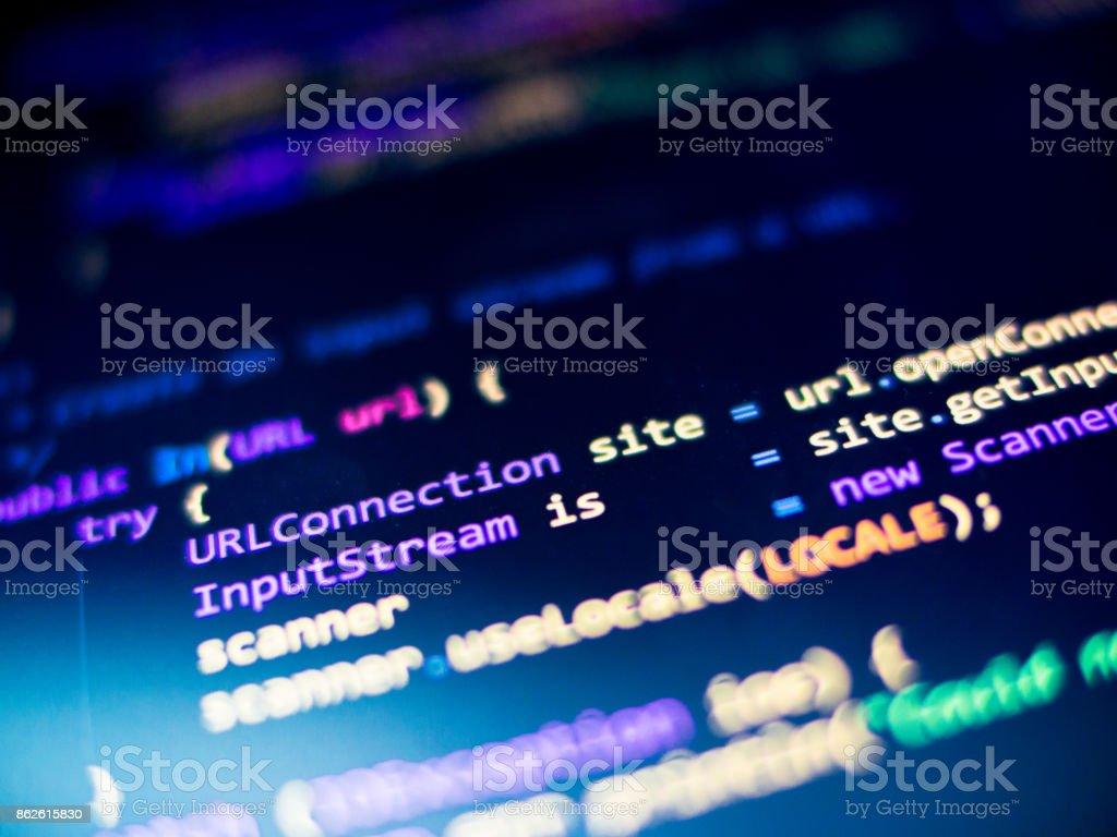 Java code - foto stock
