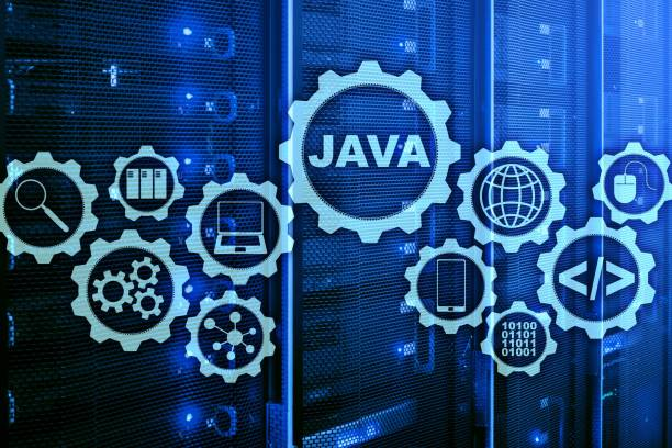 Java Programming concept. Virtual machine. On server room background. Java Programming concept. Virtual machine. On server room background. java programming language stock pictures, royalty-free photos & images