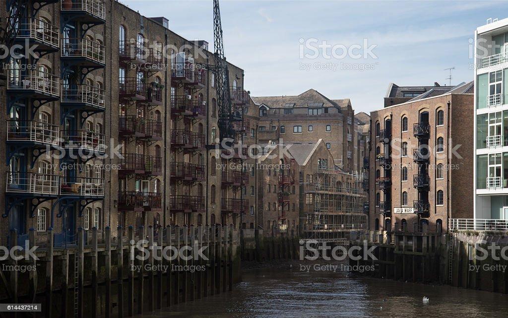 Java Wharf in London stock photo