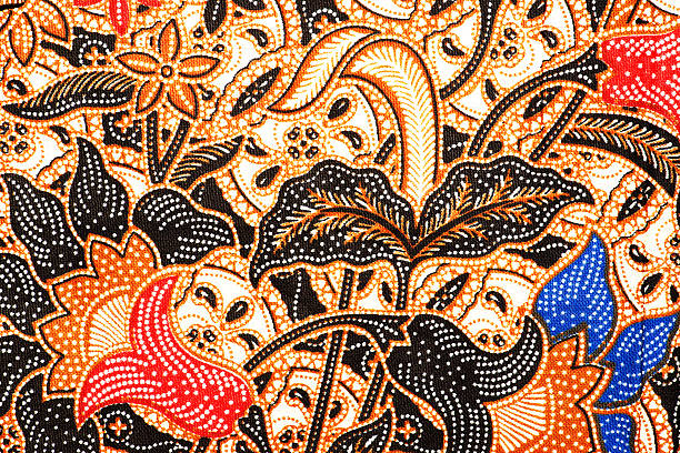 Javanese Batik Seamless Pattern stock photo