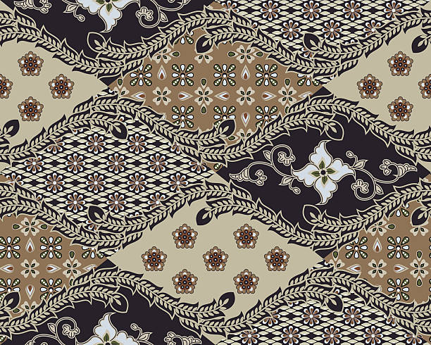 Javanese Batik Seamless Pattern - Set B1 stock photo