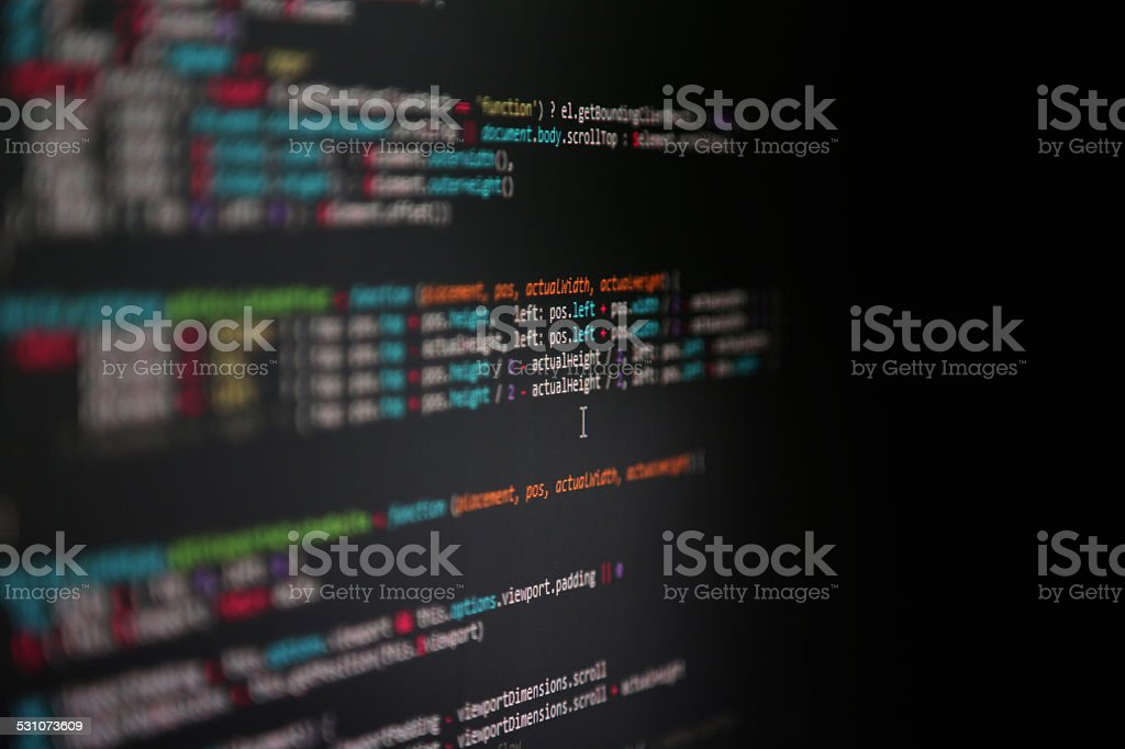 Javascript code stock photo