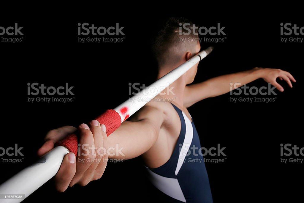 javelin thrower royalty-free stock photo