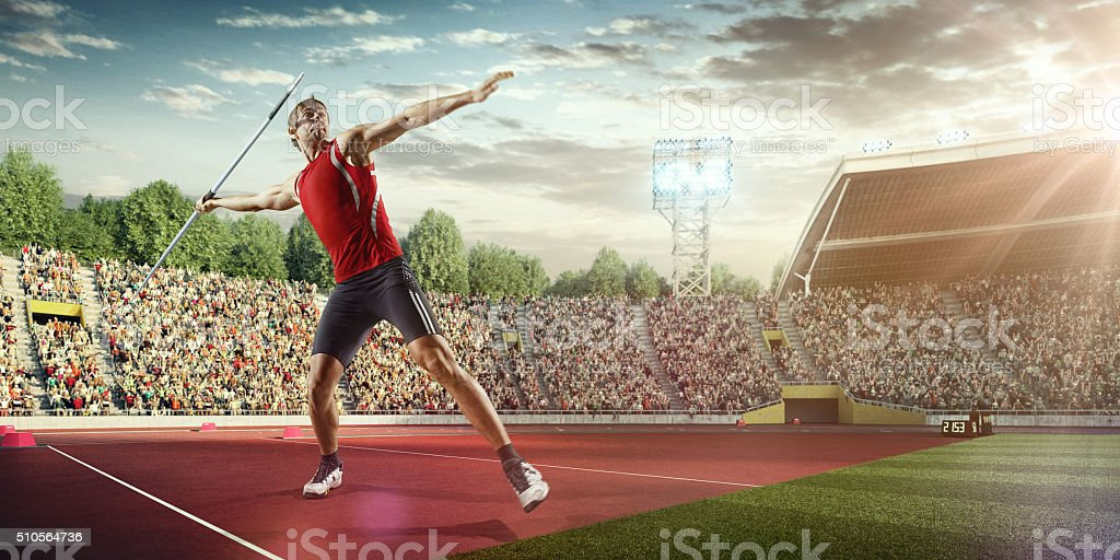 Javelin thrower stock photo
