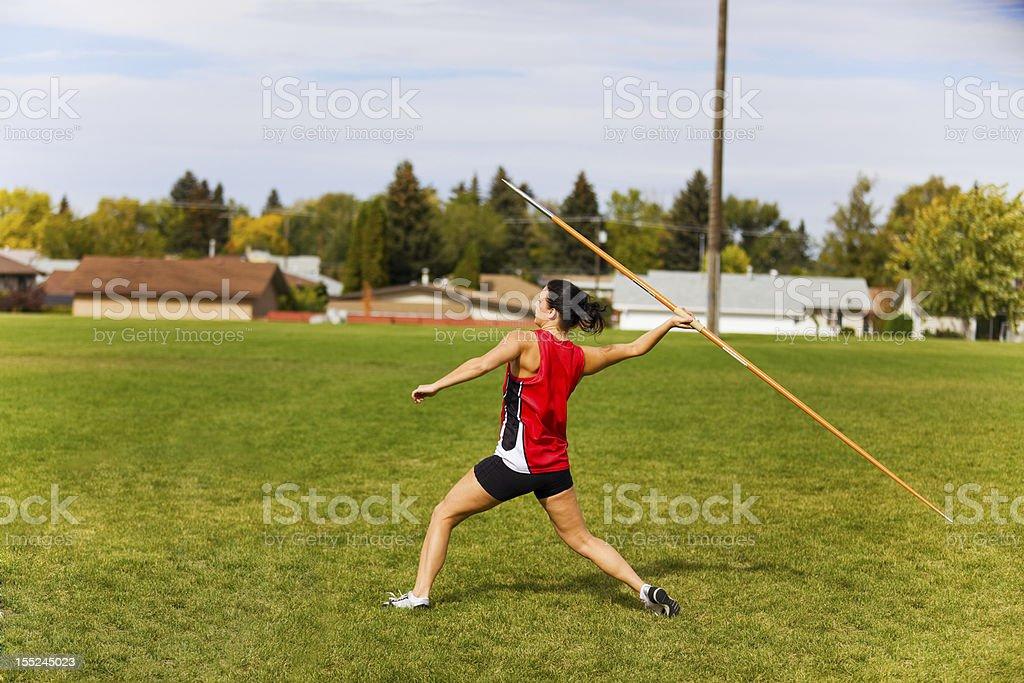 Javelin Throwing royalty-free stock photo