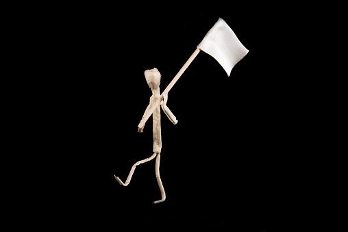 javierricola whit a flag