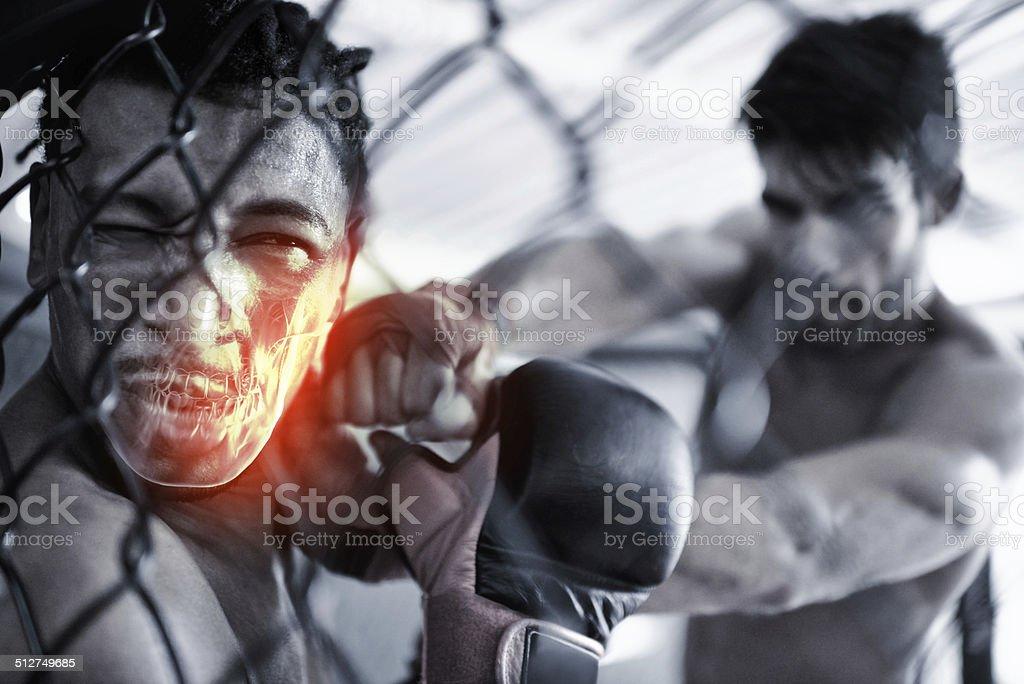 Jaw-jarring pain stock photo