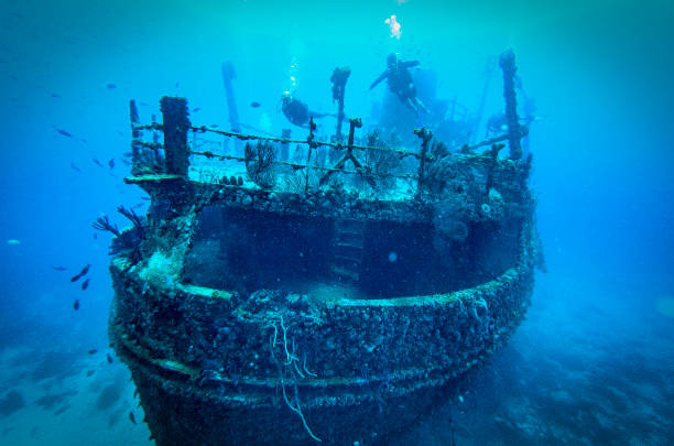 jayne c shipwreck,aruba scuba diving - shipwreck stock pictures, royalty-free photos & images