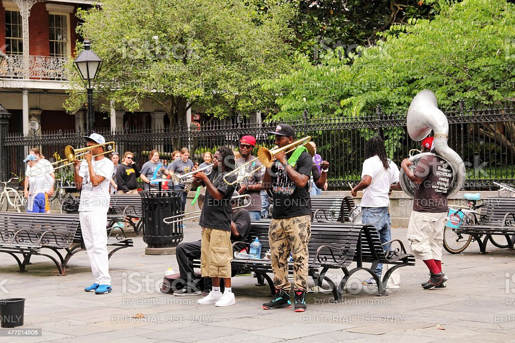 Jazz at Jackson Square New Orleans stock photo