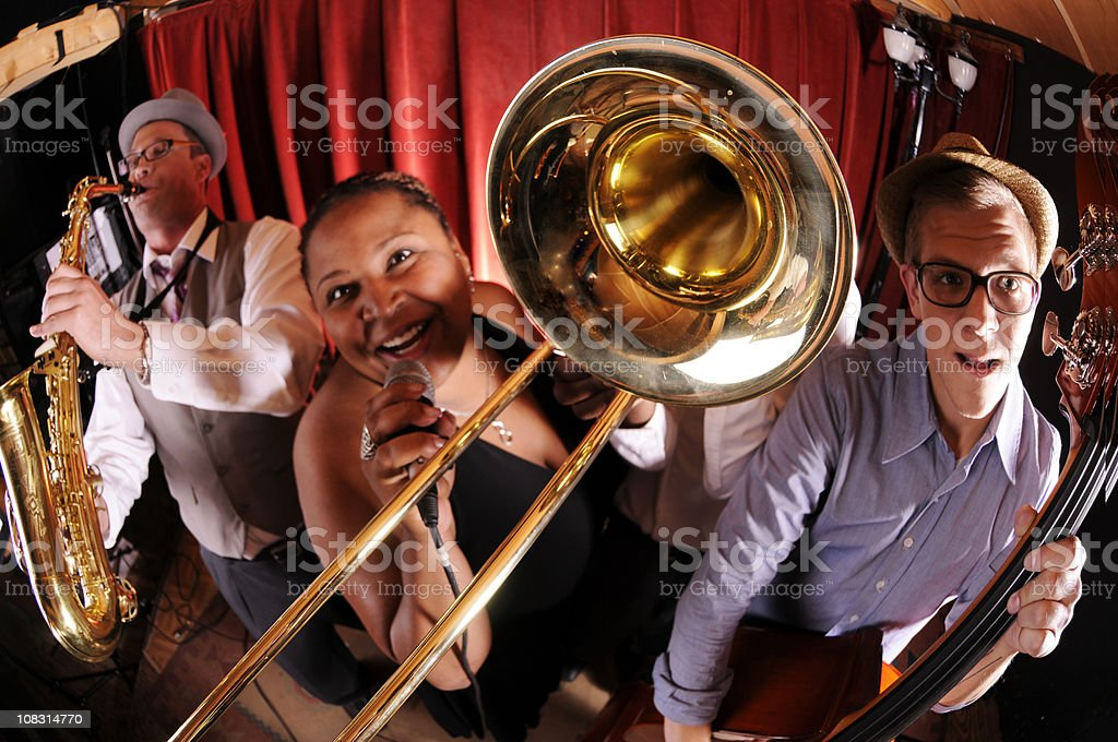 Jazz Band royalty-free stock photo