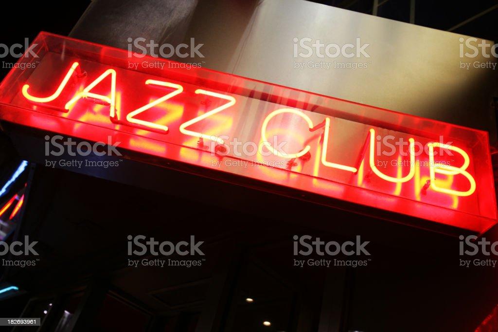 Jazz club in NY stock photo