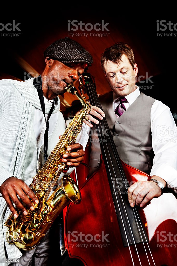 Jazz duet stock photo