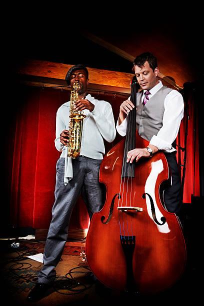 Jazz duo stock photo