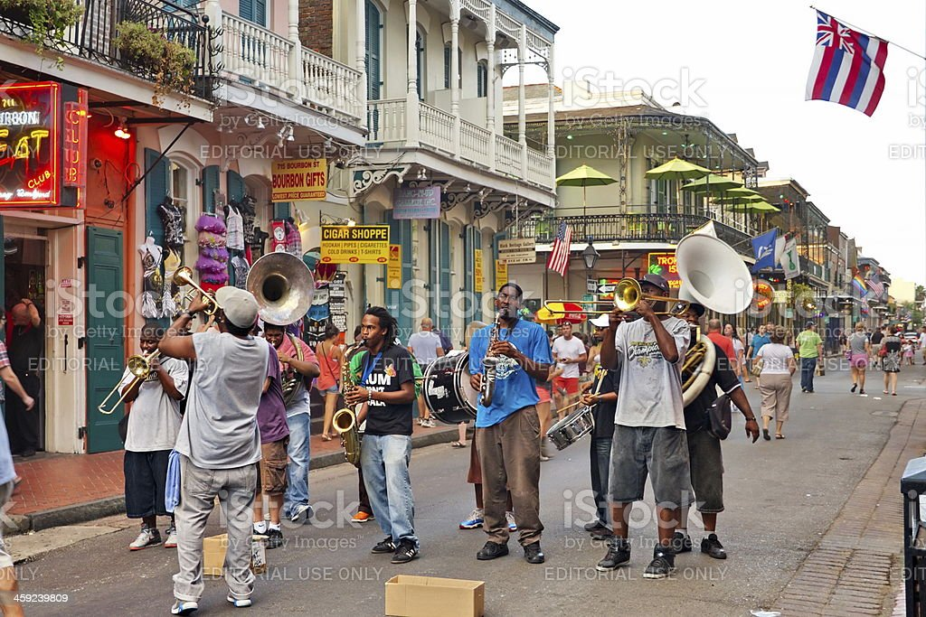 Jazz it up on the New Orleans summer streets royalty-free stock photo