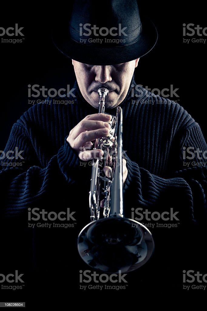 jazz man royalty-free stock photo