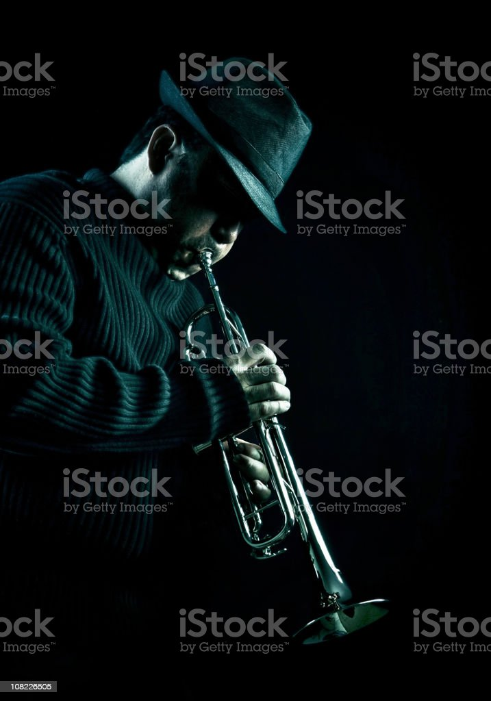 jazz man stock photo
