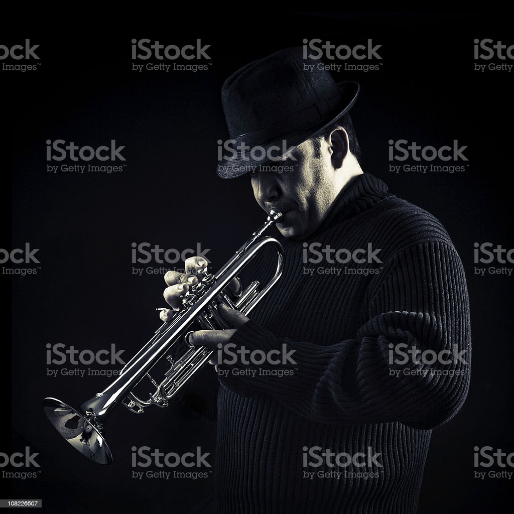 jazz man royalty-free stock photo