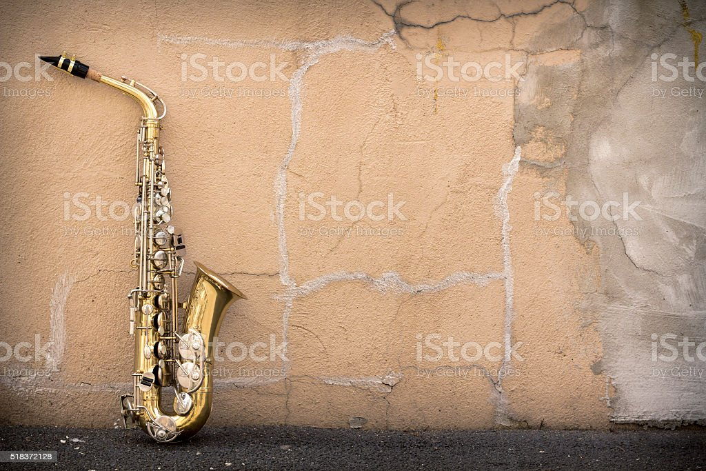 Jazz Saxophone Grunge stock photo