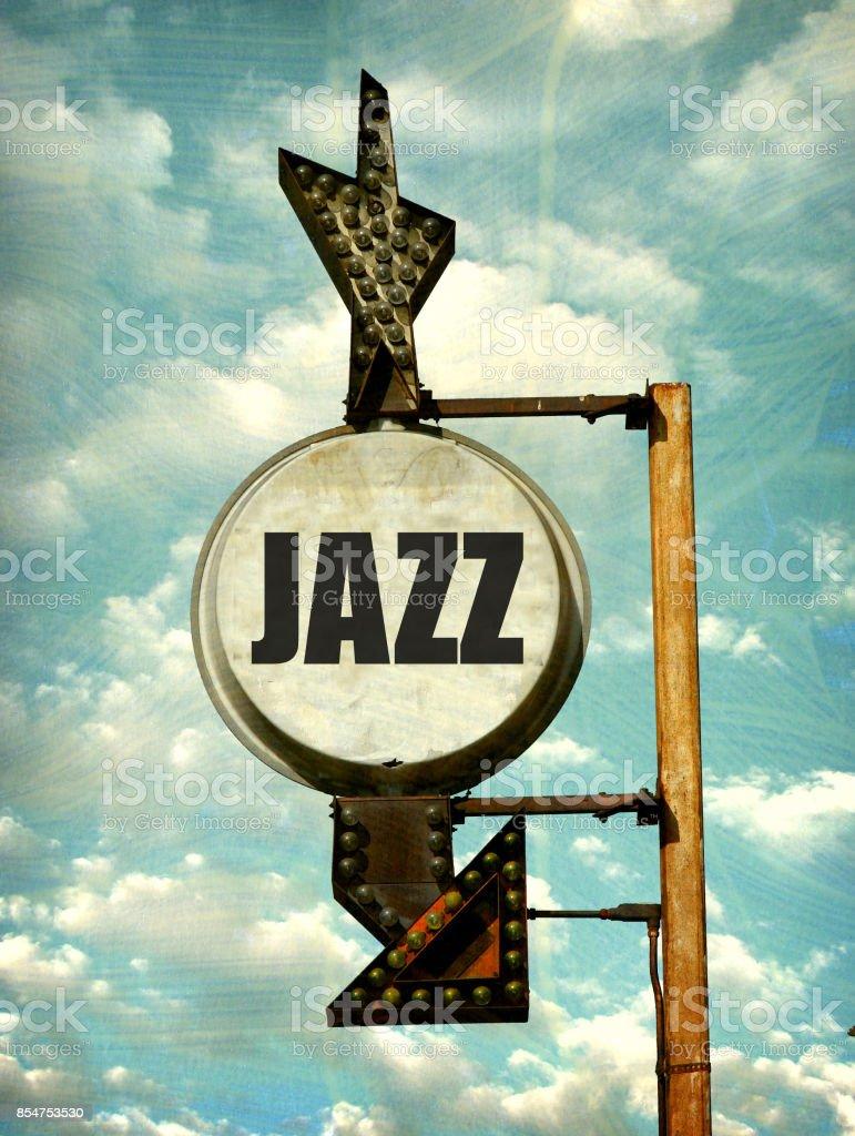 jazz sign stock photo