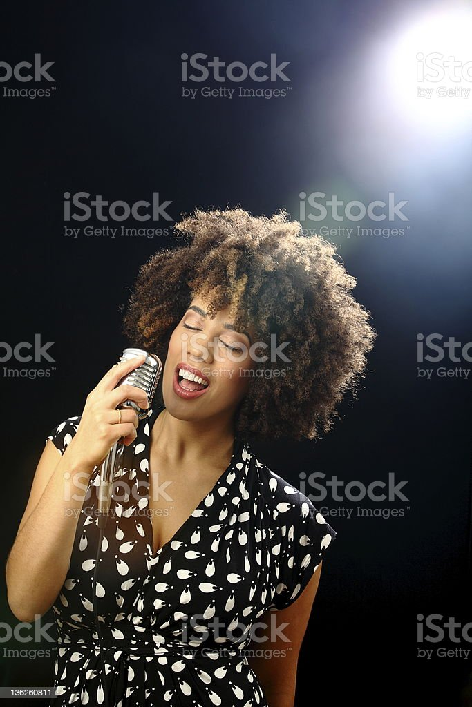 jazz singer on stage royalty-free stock photo